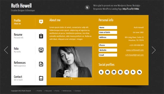 Prestige - Portfolio Resume WordPress Theme