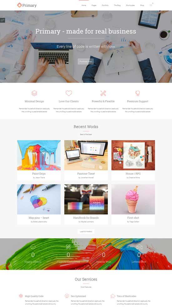 Primary Business WordPress Theme