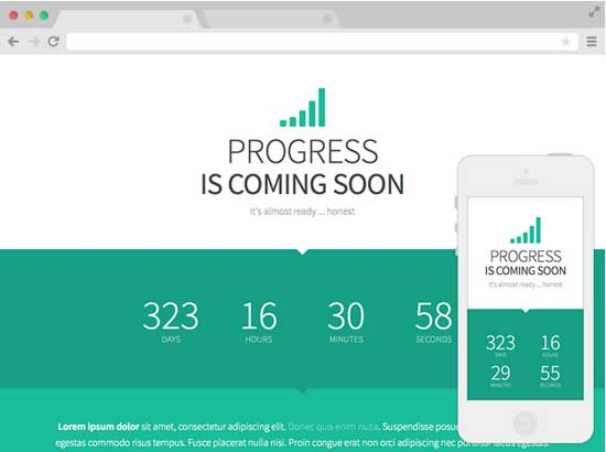 Progress-Free-Coming-Soon-Website-Template