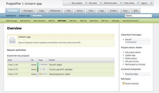 ProjectPier - Free Open-Source Managing Tasks