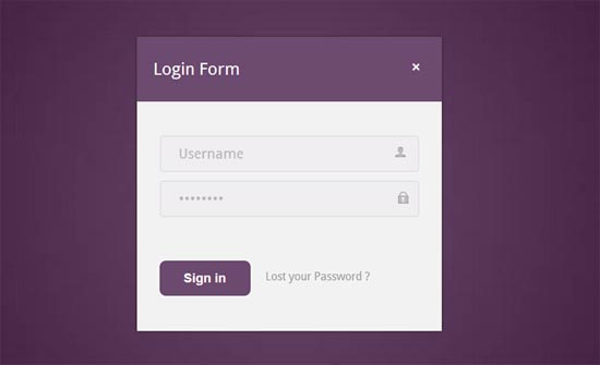Purple-Login-Form-Template