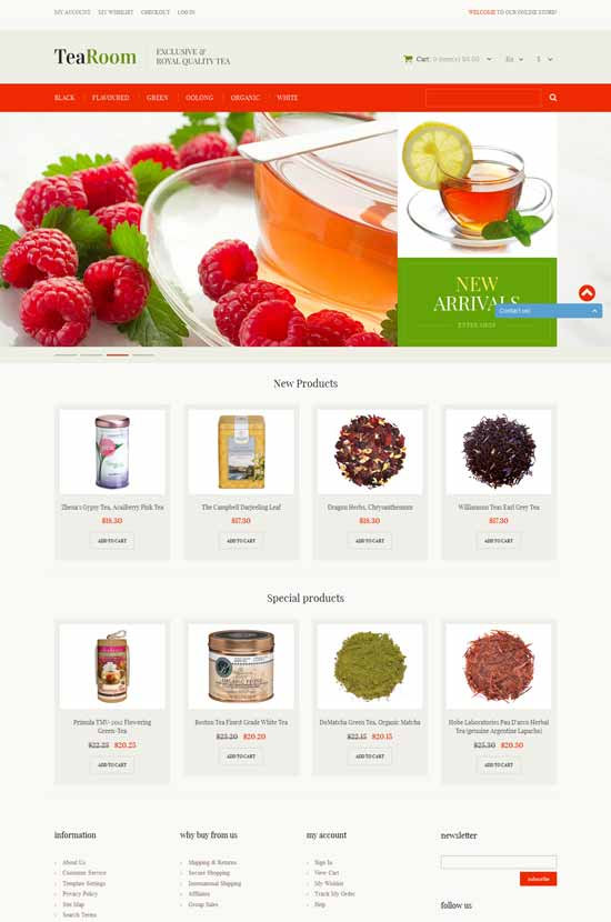 Quality-Tea-Magento-Theme