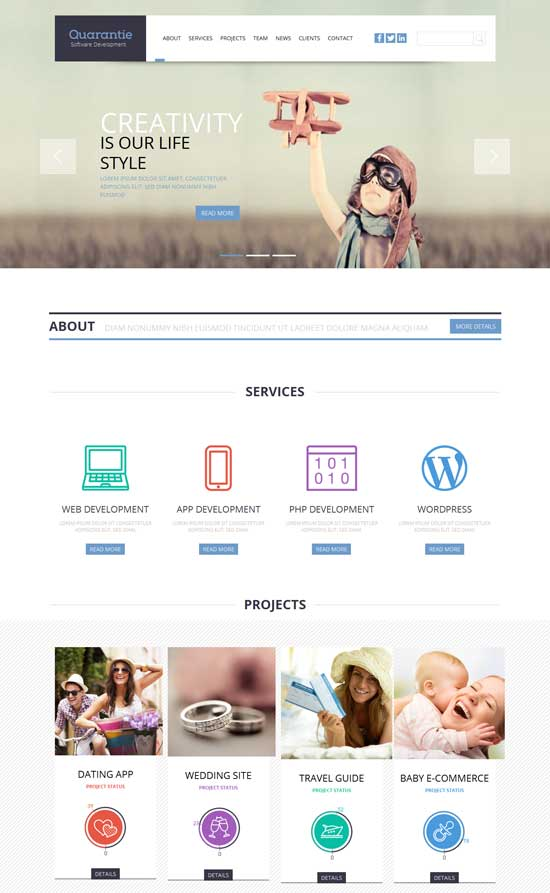 Quarantie-Free-Flat-Corporate-Business-Responsive-template