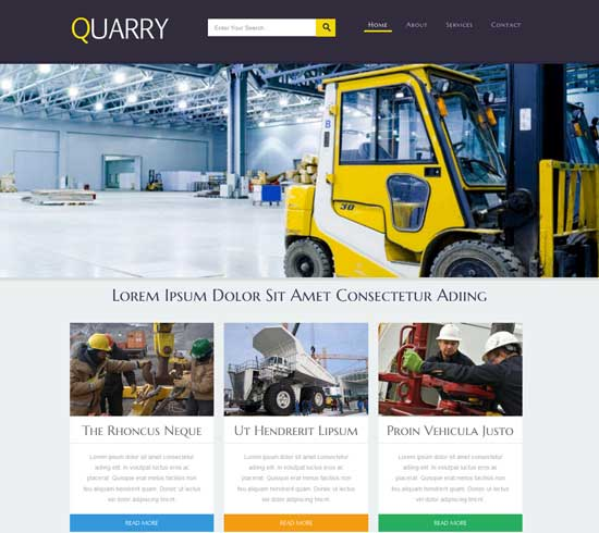 Quarry-Free-Industrial-Website-Template