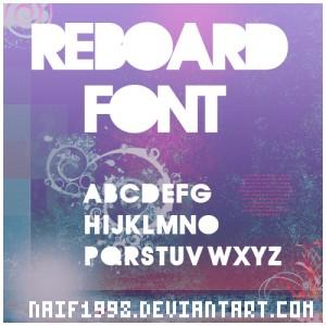 REBOARD cool free fonts