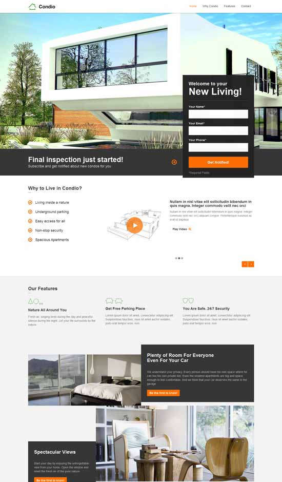 Real Estate Landing Page Template Free from freshdesignweb.com