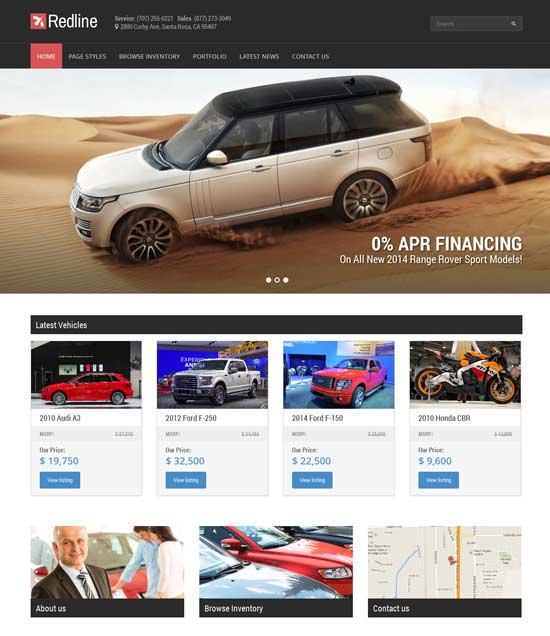 Redline-Car-Dealership-Wordpress-Theme