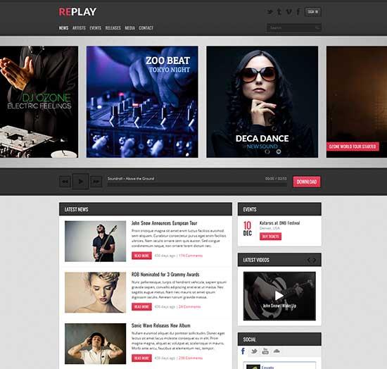 Replay-Responsive-Music-WordPress-Theme