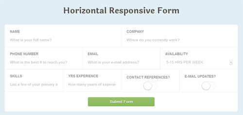 Responsive-CSS3-Application-Style-Form-Fields