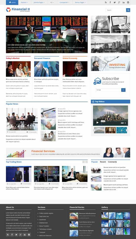 Responsive-Financial-News-Joomla-Template