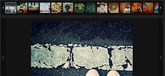 Free Responsive Image Gallery with Thumbnail Carousel