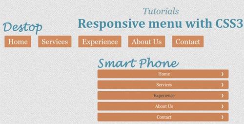 Responsive Menu with CSS3 Tutorial
