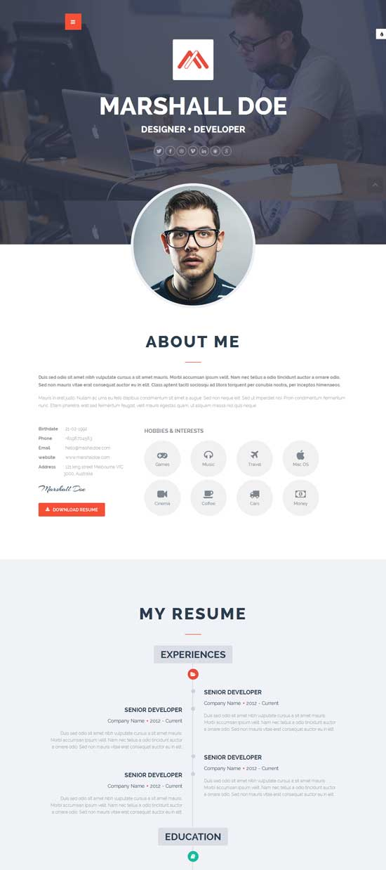 Responsive-Personal-Resume-Template