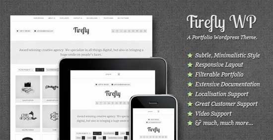 Firefly: Interactive & Responsive Portfolio Theme