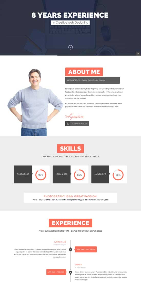ResumeX-Multipurpose-Resume-One-Page-Portfolio