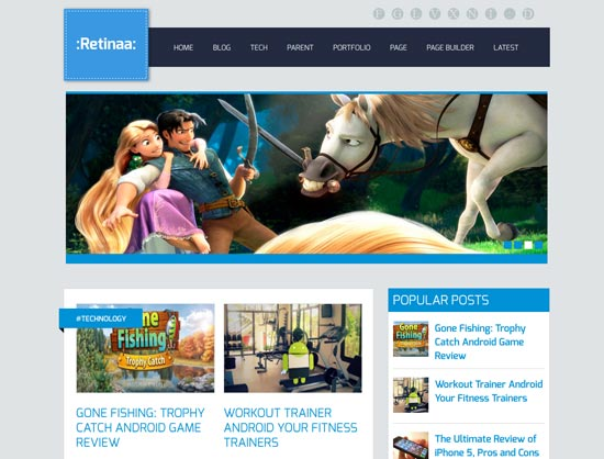 Retina responsive blogger template