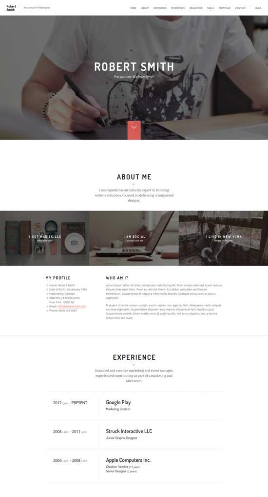 Robert-Resume-HTML5-CV
