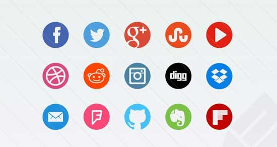 Round-css-Social-Icons
