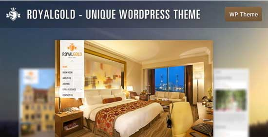 RoyalGold hotel WordPress theme