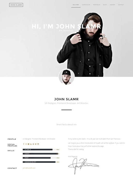 SLAMR-Ultimate-Resume-and-Personal-Portfolio