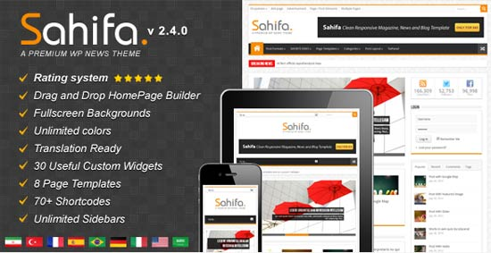 Sahifa - Responsive WordPress News