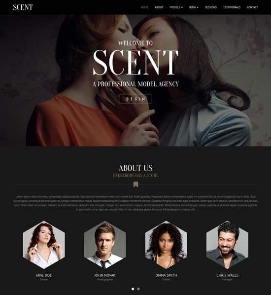 Scent-Model-Agency-Site-Theme
