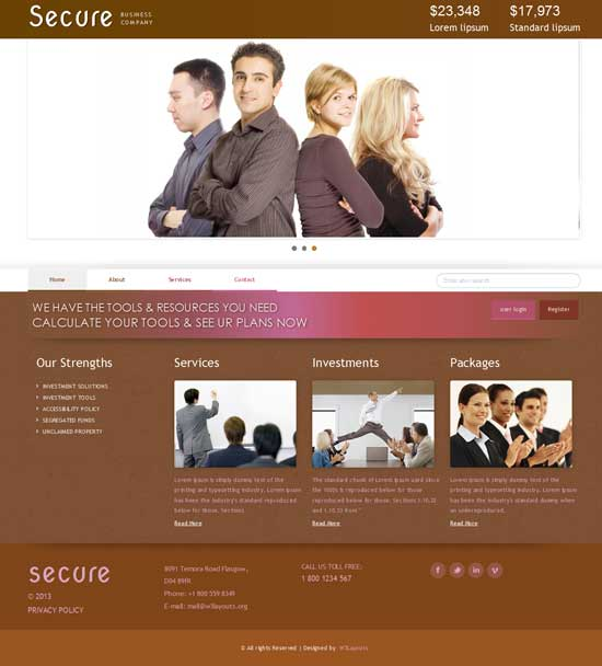 Secure-Free-Corporate-Business-Website-Template