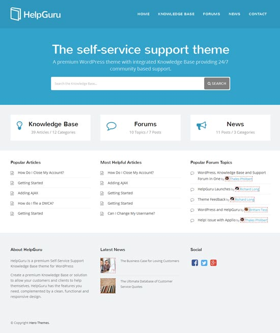 Self-Service-Knowledge-Base-WordPress-Theme