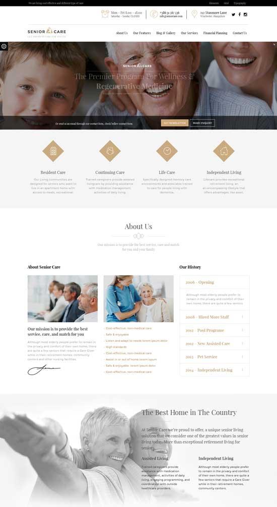 Senior-Health-Medical-Care-WordPress-Theme