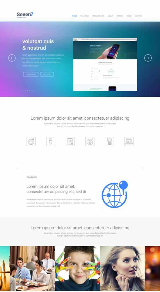 Seven7-Free-Landing-Page-Responsive-Template