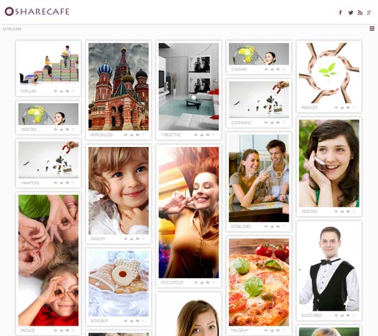 Share-Cafe-Free-Gallery-Website-Template