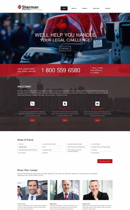 Sherman-Lawyer-Responsive-Website-Template