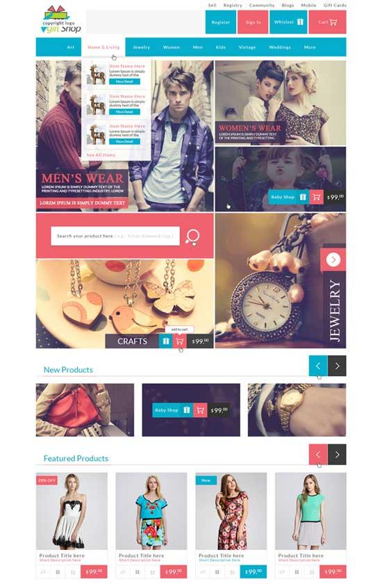 Shop-E-Commerce-Website-PSD-Design