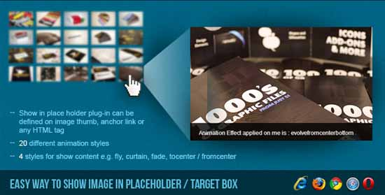 Show Image in Placeholder Target Box - jQuery