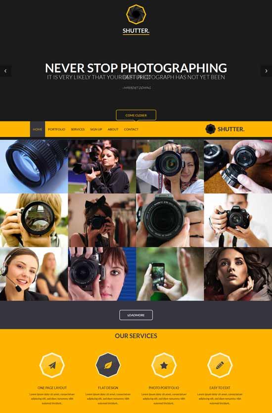 Shutter-Portfolio-Photography-Responsive-Web-Template
