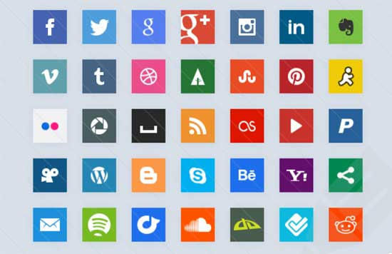 Simple-css3-Social-Icons