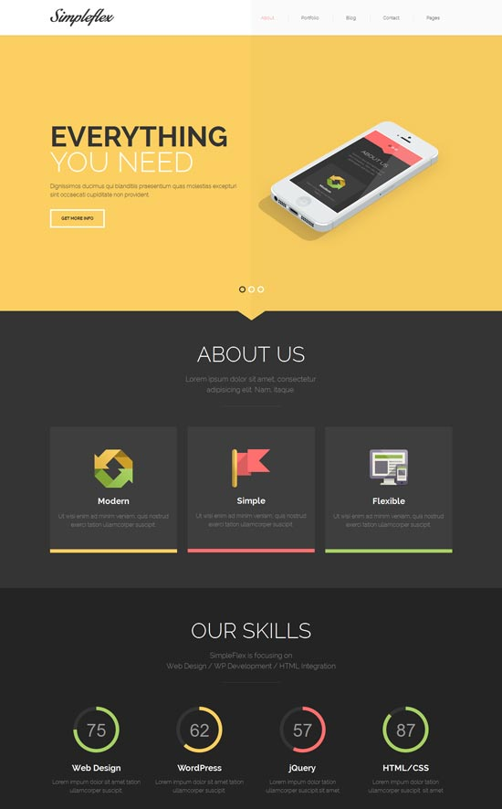 Simpleflex-OnePage-&-MultiPage-Flat-HTML-templat