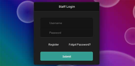 Simply Login Form