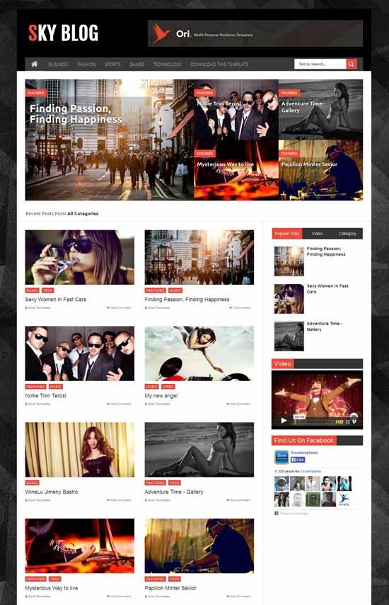 Sky-Blog-Free-modern-blogger-template
