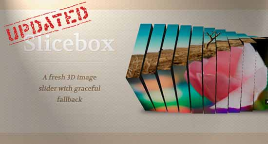 Slicebox jQuery Image Slider