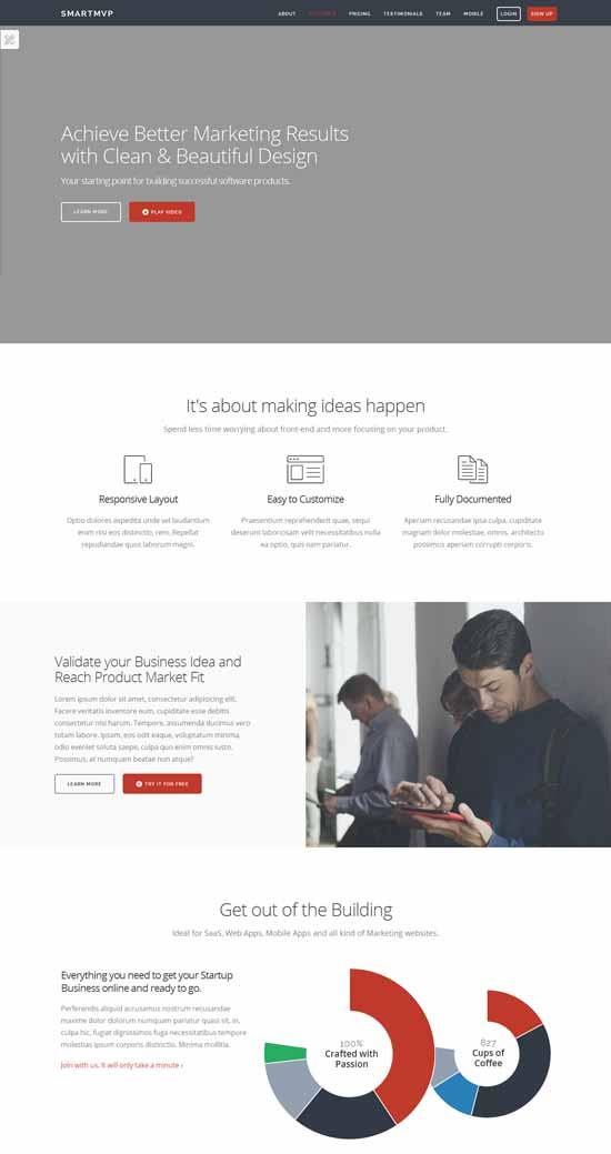 SmartMvp-Startup-Landing-Page-Template