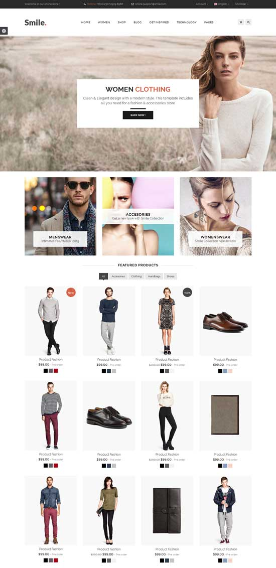 Smile-HTML-E-commerce-Template