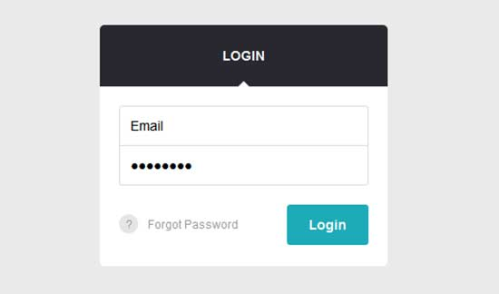 Smooth Negative Margin Login Form