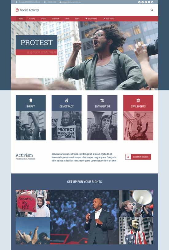 Social-Activity-Politics-Activism-WP-Theme