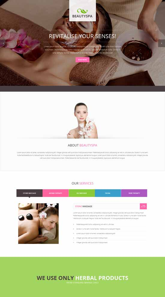 Spa-Landing-Page-Template