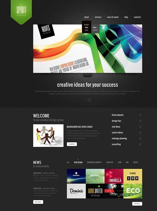Spirit-Design-Studio-Responsive-Website-Template