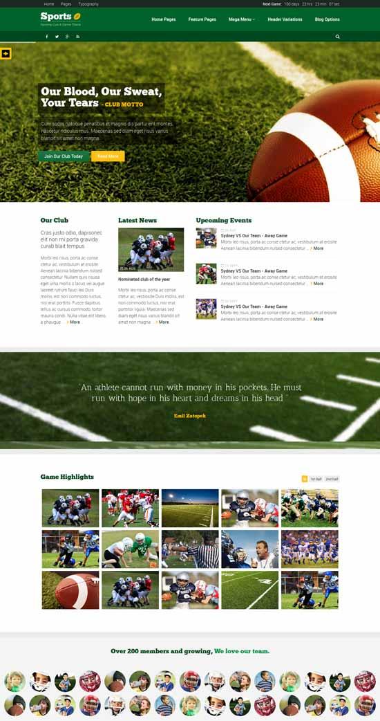 Sport-Sporting-Club-Template