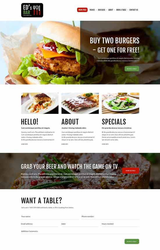 Sports-Bar-Joomla-Template