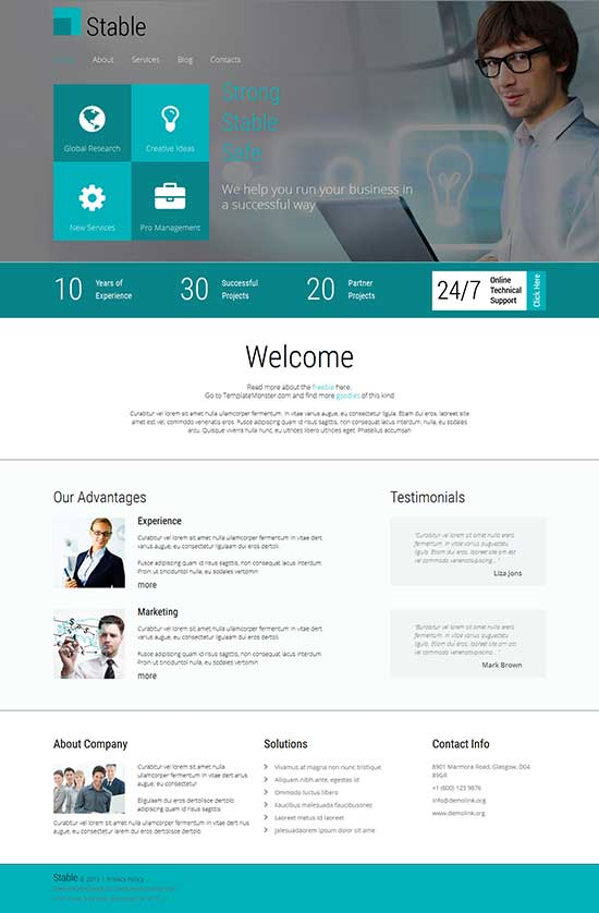 Stable-Free-Website-Template-for-Business