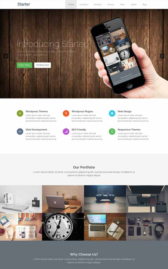 Starter-Responsive-WordPress-Theme-Build-with-Bootstrap